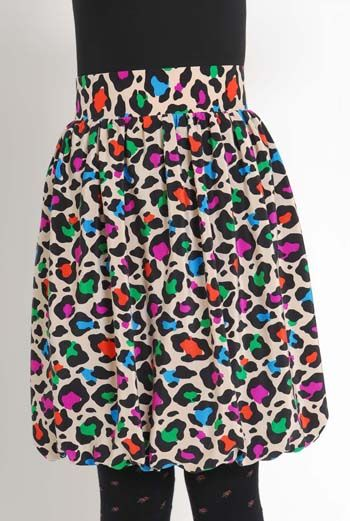 AW1112 PARTY LEOPARD PUFF SKIRT - MULTI