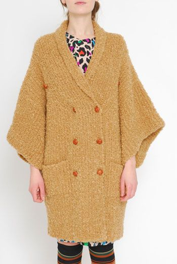 AW1112 BOUCLE KNIT COAT - VARIOUS