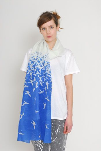 AW1112 ASCENSION WRAP SCARF - BLUE - Other Image