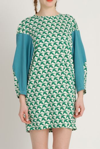 AW1213 THOUSAND PHEASANTS WEEBLE TUNIC - EVER GREEN - Other Image