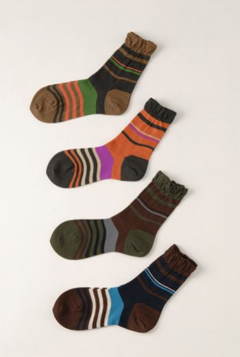 AW1213 STRIPE ANKLE SOCKS - VARIOUS - Other Image