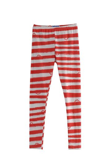 HSS12 WONDER BORDER LEGGINGS - RED