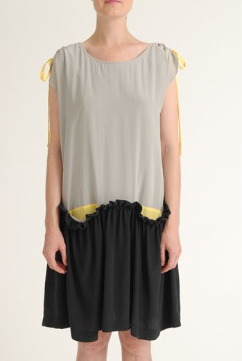 SS12 CREPE DE CHINE NARCISUS DRESS - GREY - Other Image