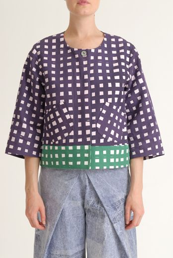 SS12 LAZY GRID LAZY JACKET - PURPLE