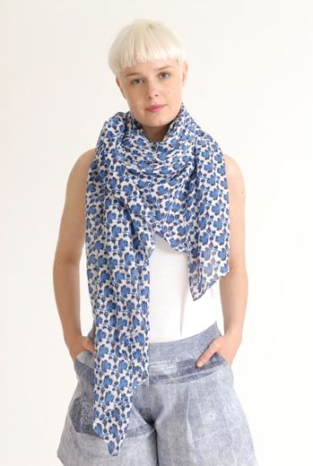 SS12 MINI MEAN ROSES BIG SCARF - VARIOUS
