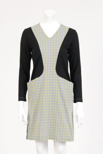 XMAS1314 SPOTS POCKET DRESS
