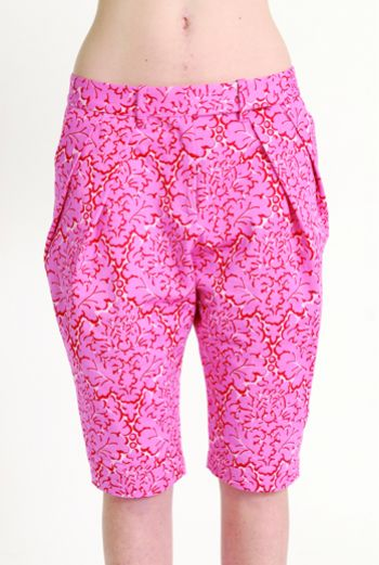 AW1314 LA LA LYON PLEAT CROP TROUSERS - Other Image