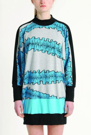 AW1314 RUFFLES BATWING TUNIC - Other Image