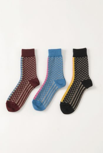 AW1314 CHECKERBOARD ANKLE SOCKS