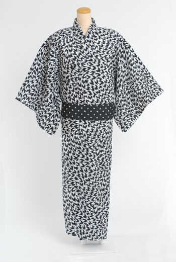 MEN'S YUKATA & OBI - BLACK/BLACK