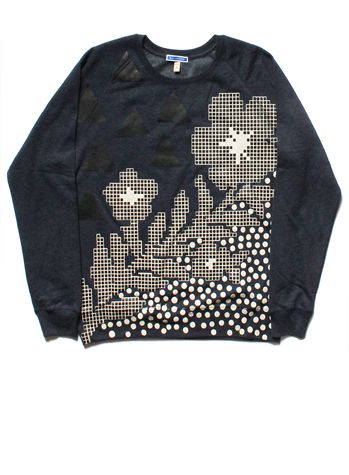 SS17/18 FLOWER ON THE HILL SWEATSHIRT - NAVY