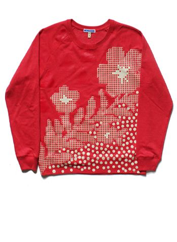 SS17/18 FLOWER ON THE HILL SWEATSHIRT - RED