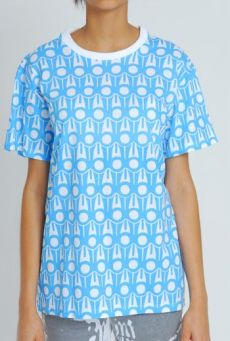 SS11 GRAPHIC-A-RUFFLE UNISEX TEE - BLUE