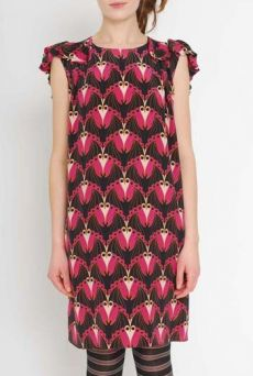 AW1112 BATMOSPHERE PRINT BAT DRESS - VARIOUS