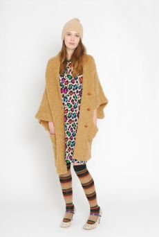 AW1112 BOUCLE KNIT COAT - VARIOUS - Other Image