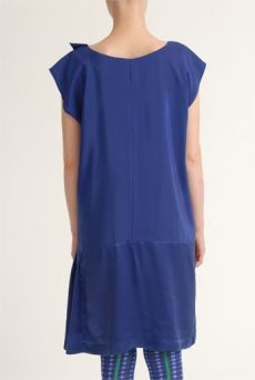 SS12 CREPE BACKED SATIN IVY DRESS -PURPLE - Other Image