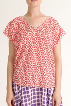 SS12 MINI MEAN ROSES 3 SEAM TOP - PINK