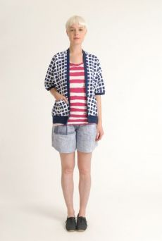 SS12 RAVIOLI HAPPI CARDI - NAVY - Other Image