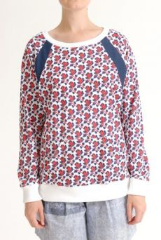 SS12 MINI MEAN ROSES RACING RAGLAN TOP - RED