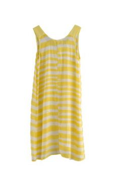 HSS12 WONDER BORDER CHEESY TANK DRESS - VARIOUS - Other Image