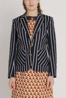 AW1213 BUTCHER'S STRIPE EVER-SO-JACKET - NAVY