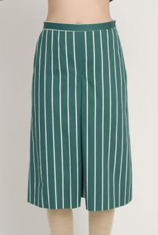 AW1213 BUTCHER'S STRIPE MODESTY CULLOTTES - NAVY