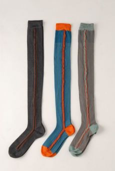 AW1213 VERTICAL STRIPE OVER KNEE SOCKS - VARIOUS