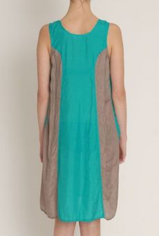 SS13 SILK HABOTAI BIG POCKET DRESS - Other Image