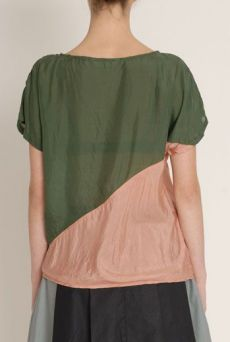 SS13 SILK HABOTAI DIAGONAL TOP - Other Image