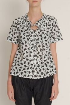 SS13 FIZZY PUSSYS RUCHE COLLAR BLOUSE