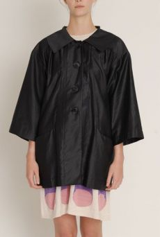 SS13 BLACK PAINTERS COAT
