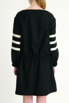 AW1314 PURE WOOL DRAWSTRING DRESS - Other Image