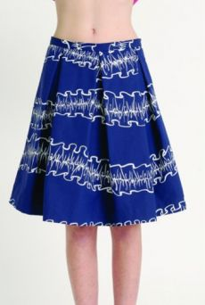 AW1314 OPAQUE RUFFLES PLEAT SKIRT