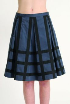 AW1314 COTTON SATEEN PLEAT SKIRT