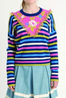 AW1314 FRINGE YOKE JUMPER - Other Image