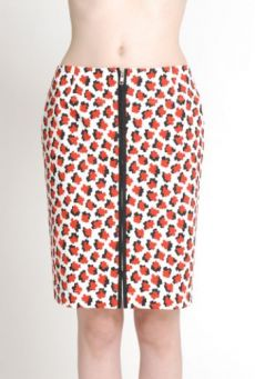 SS14 CUBIC MOLECULES FRONT ZIP SKIRT
