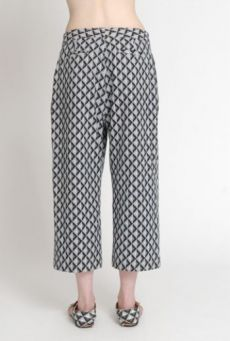 SS14 LIGHT ON LATTICE HALF MAST TROUSERS - Other Image
