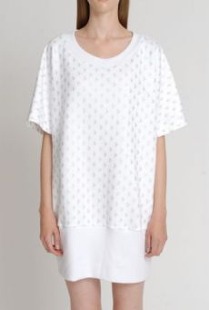 SS14 TIP OF THE ICEBERG PEARL RIB HEM TUNIC