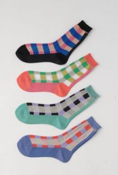 SS14 GRID LONG ANKLE SOCK