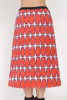 AW15 FISHBONE BORDERS QUILTED SKIRT - Other Image