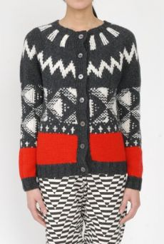 AW15 EKxERIBE LIGHT ON LATTICE CARDIGAN