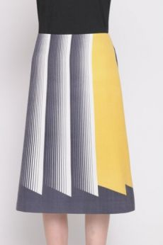 AW16 PRETTY PLEATS A LINE SKIRT