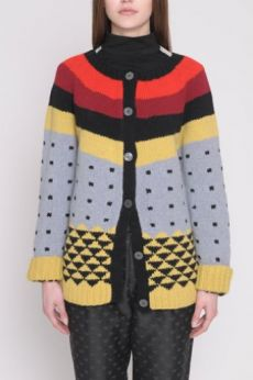 AW16 GRAPHIC FOLK CARDIGAN