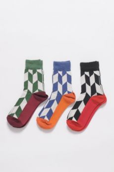 AW16 CHEVRON ANKLE SOCKS