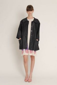 SS13 BLACK PAINTERS COAT - Other Image