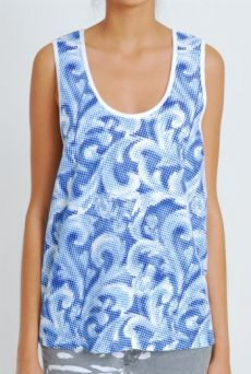 SS11 EMPERORS NEW CLOTHES UNISEX VEST - BLUE