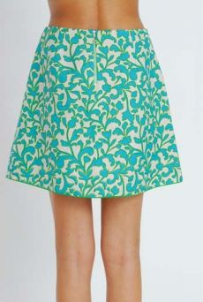 SS11 SNOBBY WEED SHIELD SKIRT - GREEN - Other Image