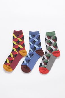 AW16 CURIOUS CUBE ANKLE SOCKS